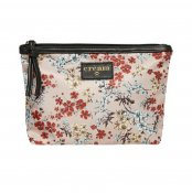 Cream 10401332-60330 Daimi flower makeup bag rose dust sminkväska necessär blommig dragkedja dammrosa