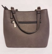 NYPD 8283106-02 Alice handbag fake leather many compartments two shoulder shoulder straps grey konstskinn många bra fack två axe