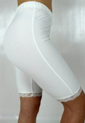Capri Collection 5901910 Alma bike shorts lace elastic creme cykelbyxa spets resår