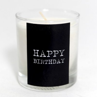 Mellow Design 6019 Happy birthday scented candle stearic lemon grass doftljus sterarin citrongräs